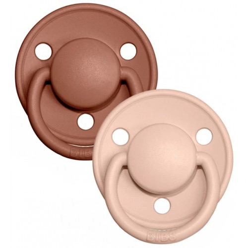 Bibs Delux Pacifier 2 Pack Woodchuck Blush