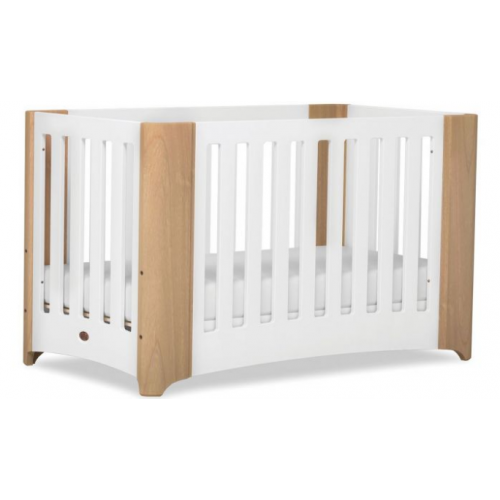 Boori Dawn Expandable Cot Beech and White