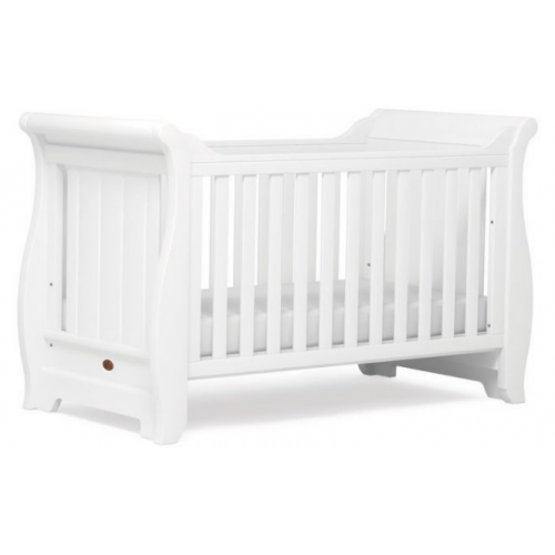 Boori Sleigh Cot Bed White