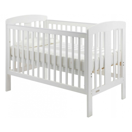 Grotime Pearl Cot and Mattress White