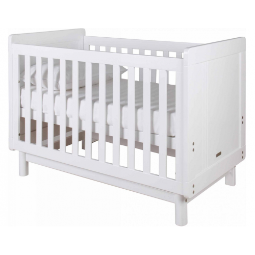 Grotime Scandi Cot and Mattress White