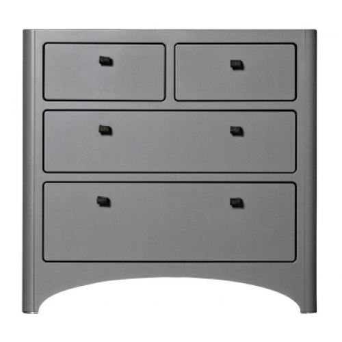 Leander 4 Drawer Dresser Grey
