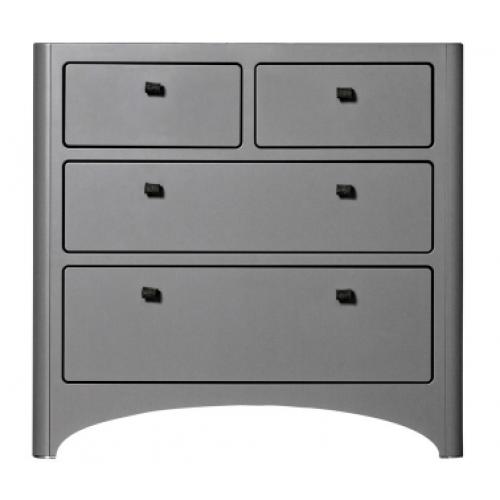 Leander 4 Drawer Dresser Grey