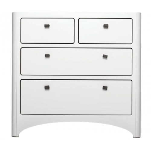 Leander 4 Drawer Dresser White