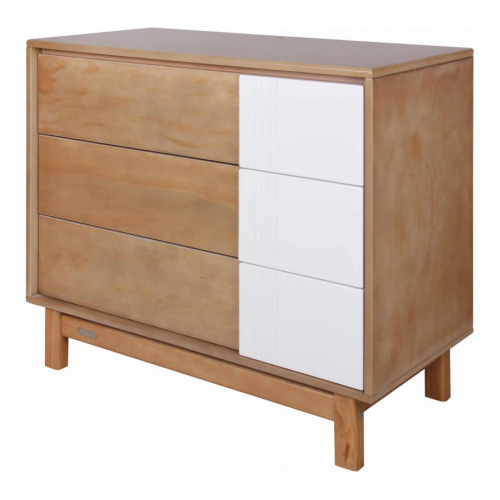 Grotime Scandi 3 Drawer Chest Honey Elm White