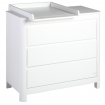 Troll Sun 3 Drawer Dresser White