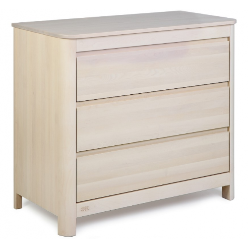 Troll Sun 3 Drawer Dresser White Wash
