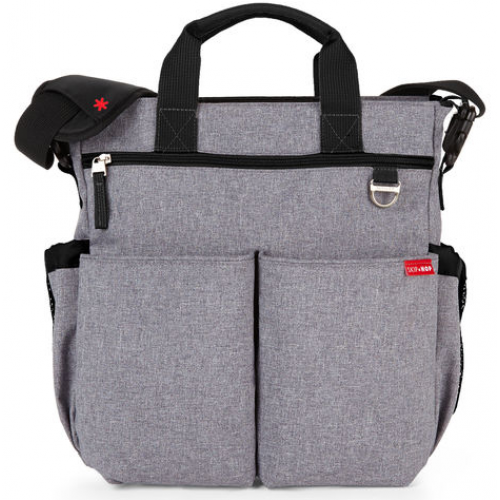 Skip Hop Duo Signature Nappy Bag Heather Grey