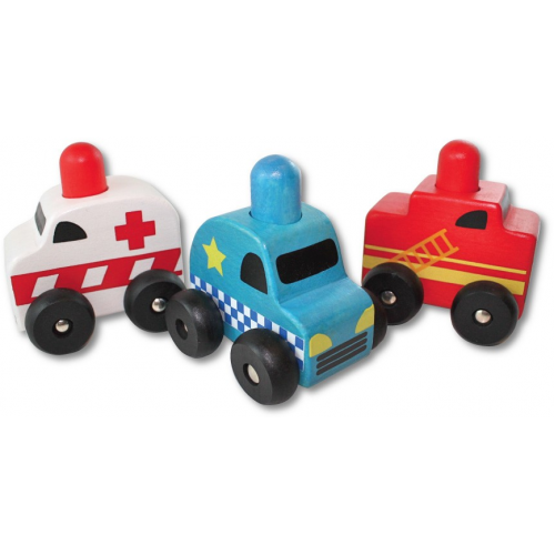 Discoveroo Squeaker Emergency Cars