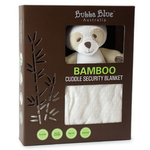 Bubba Blue Bamboo Cuddle Security Blanket White