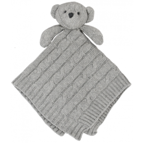 Living Textiles Security Blanket Grey Bear