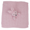 Living Textiles Security Blanket Pink Bunny