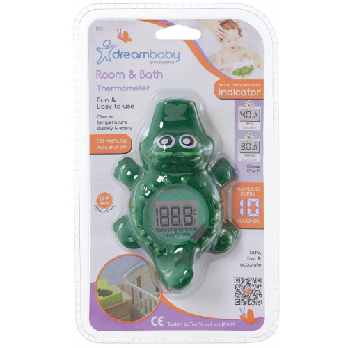Dreambaby Crocodile Bath and Room Thermometer
