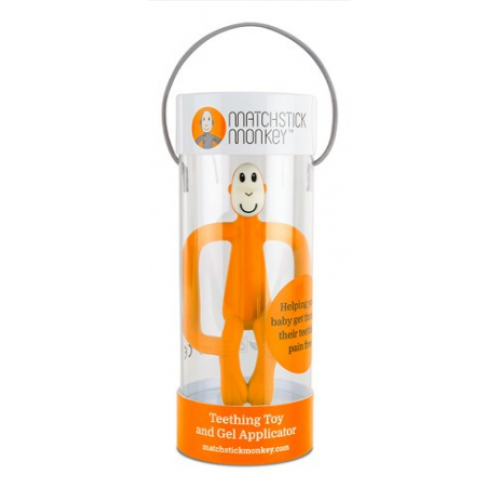 Matchstick Monkey Teething Toy and Gel Applicator Orange