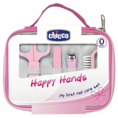 Chicco Happy Hands Nail Care Set Pink