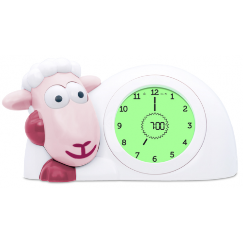 Zazu Sam Sleep Trainer and Night Light Pink