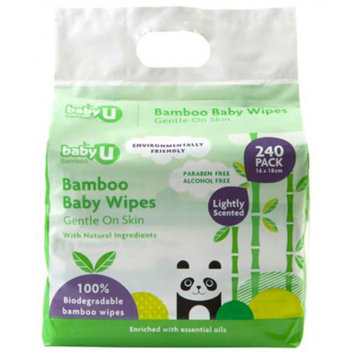 Baby U Bamboo Baby Wipes 240pk