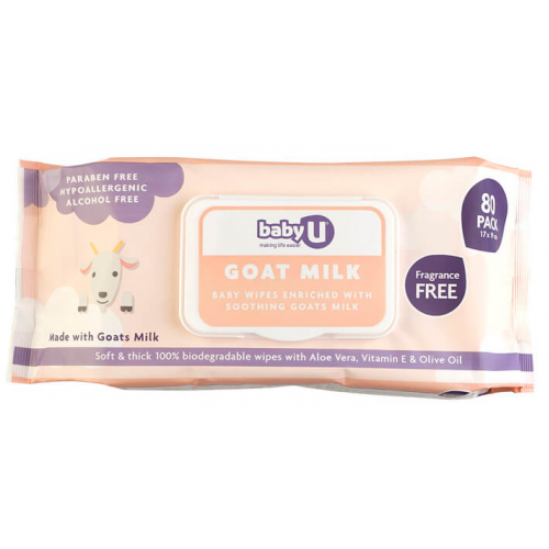 Baby U Goat Milk Wipes 80pk