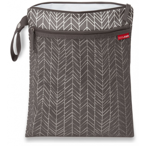 Skip Hop Grab & Go Wet and Dry Bag Gray Feather