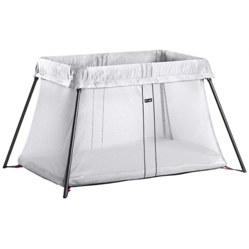Baby Bjorn Travel Cot Light Silver Mesh