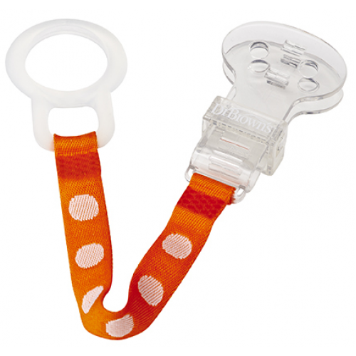 Dr Browns Pacifier Clip Orange
