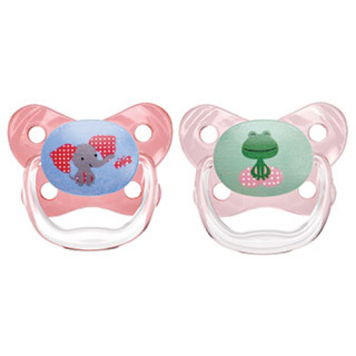 Dr Browns PreVent Pacifiers Pink 6-12 Months