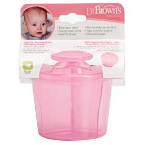 Dr Browns Milk Powder Dispenser Pink