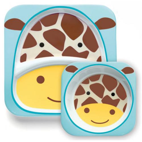 Skip Hop Zoo Plate and Bowl Set Giraffe