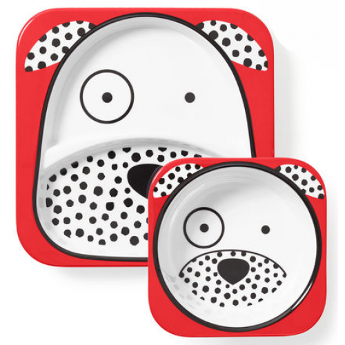Skip Hop Zoo Plate and Bowl Set Dalmatian