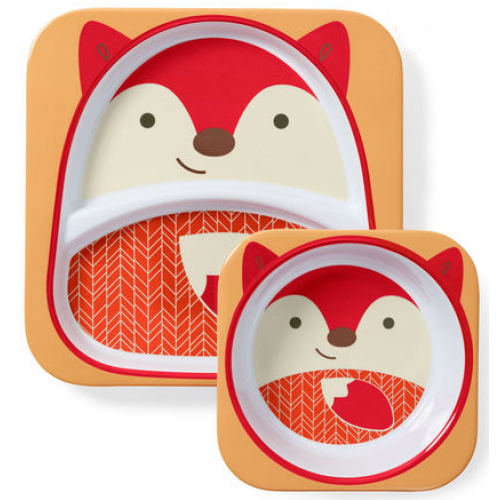 Skip Hop Zoo Plate and Bowl Set Fox