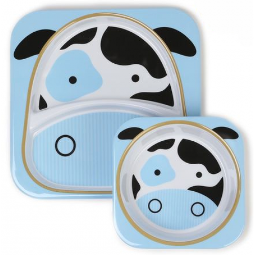 Skip Hop Zoo Plate and Bowl Set Cow