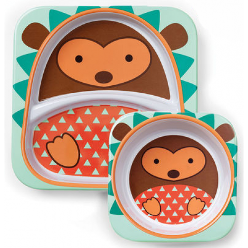 Skip Hop Zoo Plate and Bowl Set Hedgehog