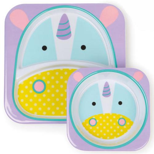 Skip Hop Zoo Plate and Bowl Set Unicorn