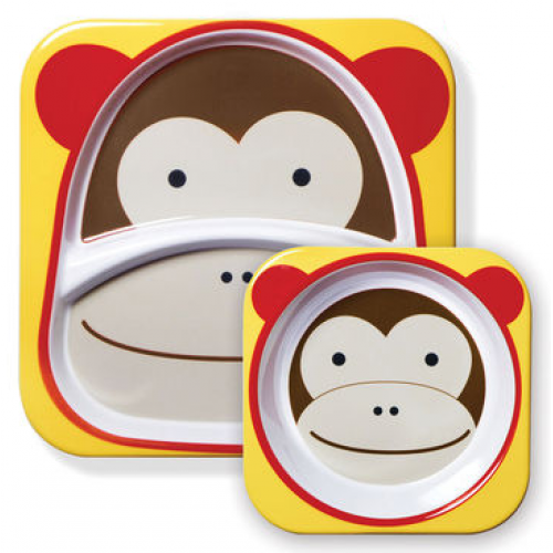 Skip Hop Zoo Plate and Bowl Set Monkey
