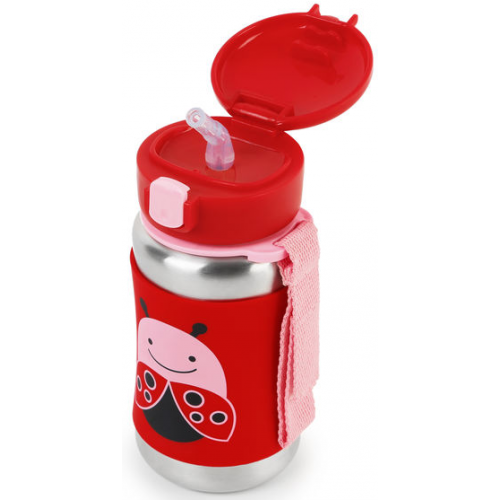 Skip Hop Stainless Steel Straw Bottle Ladybug