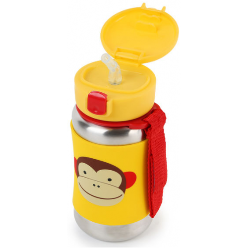 Skip Hop Stainless Steel Straw Bottle Monkey