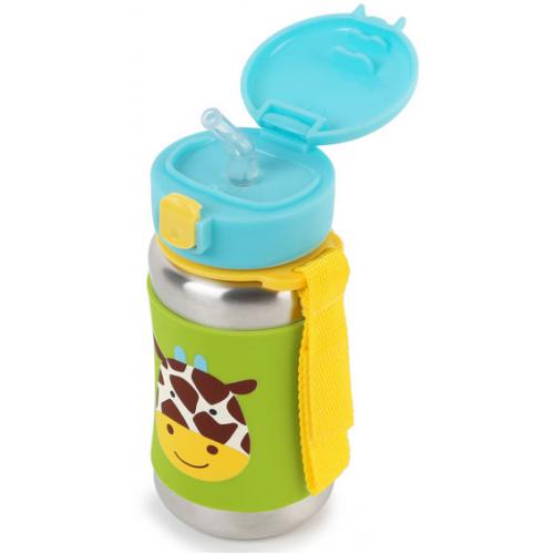 Skip Hop Stainless Steel Straw Bottle Giraffe