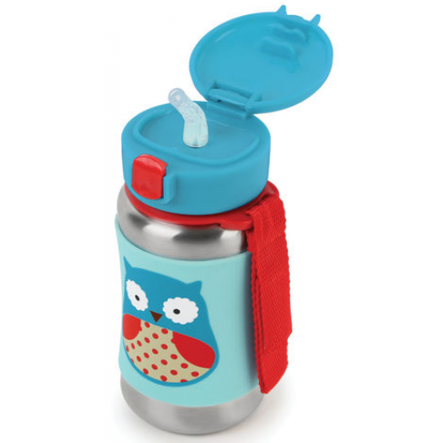 Skip Hop Stainless Steel Straw Bottle Owl