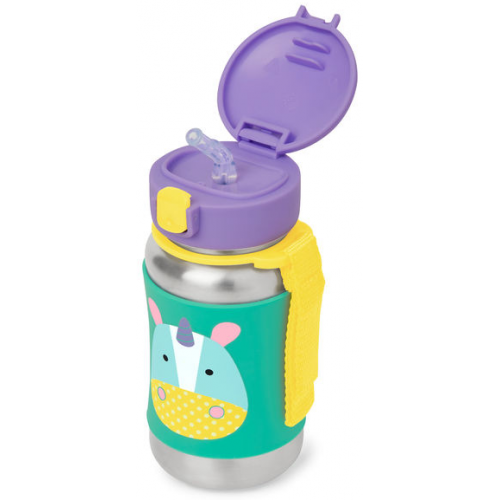Skip Hop Stainless Steel Straw Bottle Unicorn