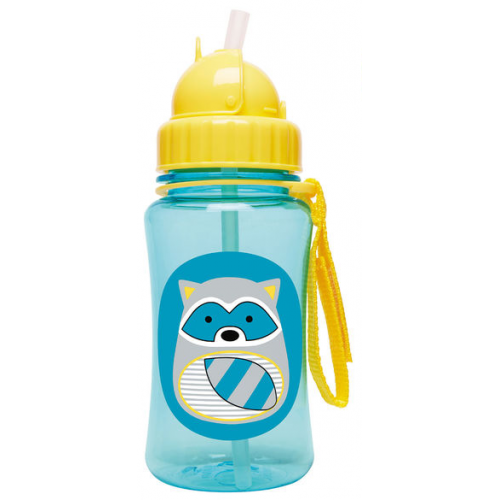 Skip Hop Zoo Straw Bottle Raccoon