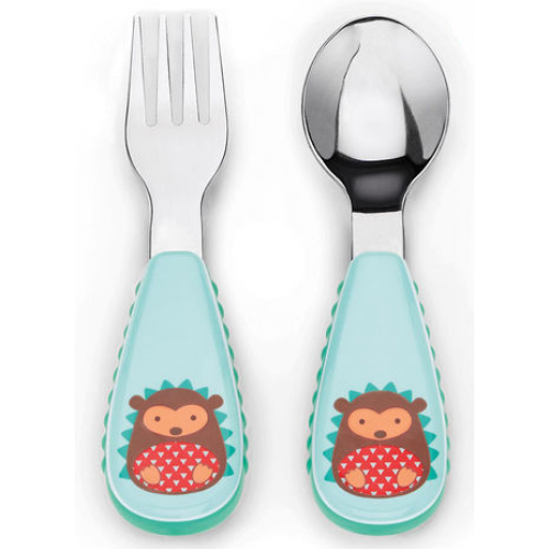 Skip Hop Zootensils Fork and Spoon Hedgehog