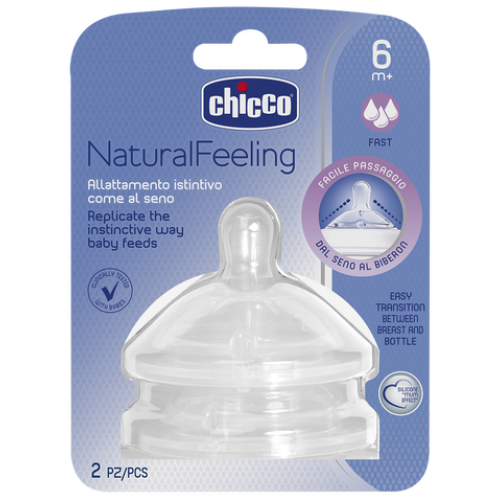 Chicco Natural Feeling Teats Fast Flow 6m+