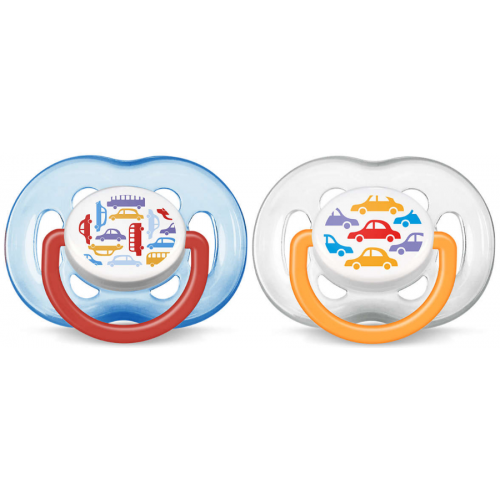 Avent Freeflow Pacifier Cars 6-18m