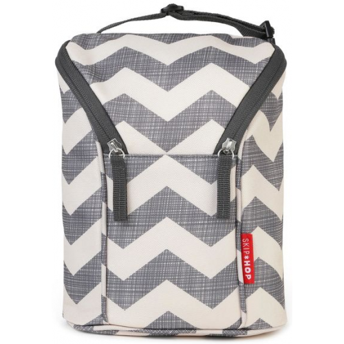 Skip Hop Grab and Go Double Bottle Bag Chevron