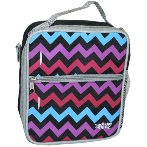 Fridge to Go Lunch Bag Medium Chevron