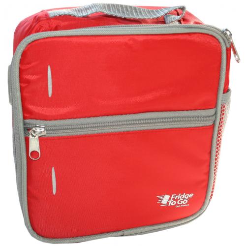 Fridge to Go Lunch Bag Medium Red