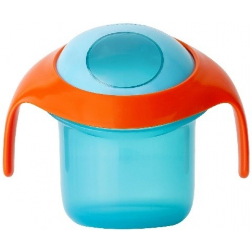 Boon Nosh Snack Container Blue Orange