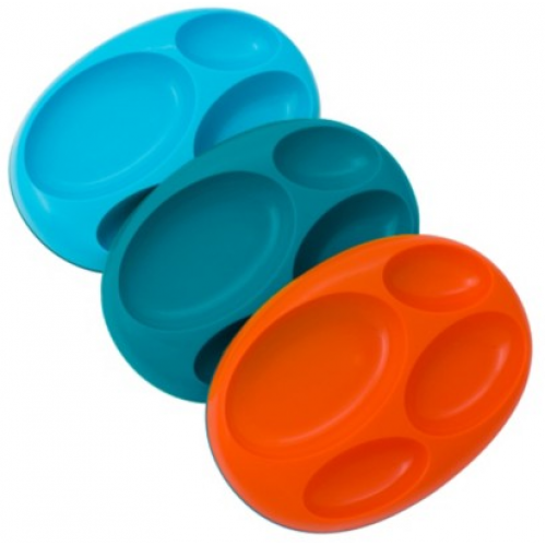 Boon Platter Divided Plate Blue Multi