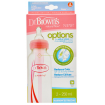 Dr Browns Options Narrow Bottle 250ml Twin Pink