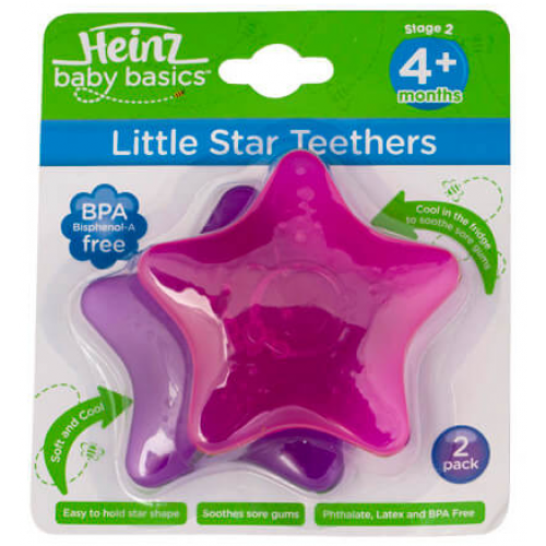 Heinz Baby Basics Little Star Teethers Pink Purple